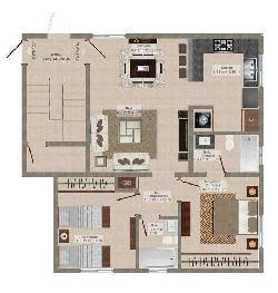 Apartamento en venta 3 habitaciones Arrollo Manzano