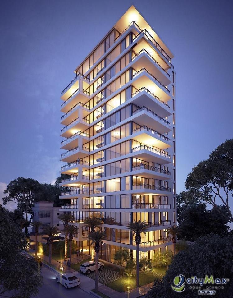 Torre de apartamentos EN VENTA, La Esmeralda, Santiago.