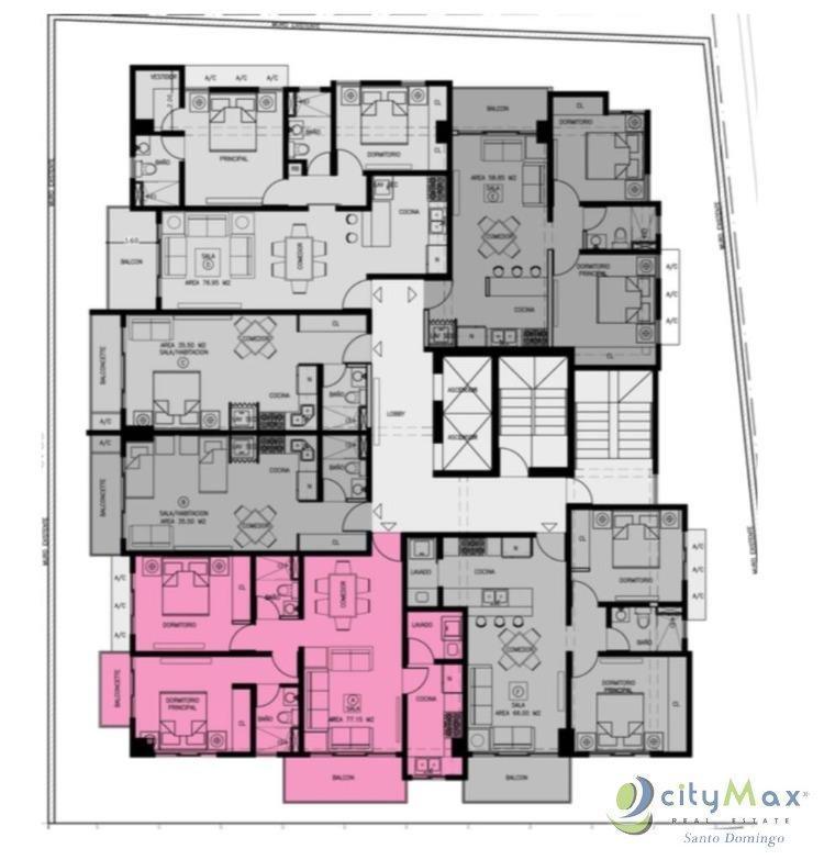 Vendo Apartamento de 1 hab para inversion en Naco