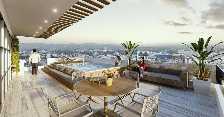 Vendo moderno apartamento de 1 habitación en Naco